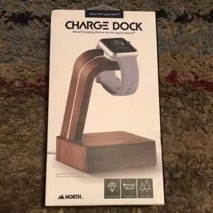 Apple Watch wood charging dock